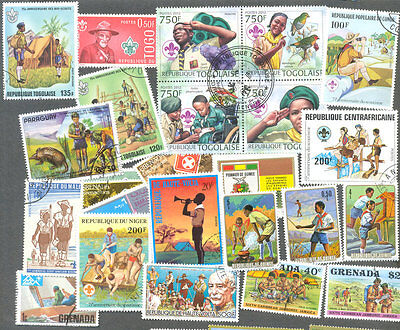 Scouts on stamps 200 all different collection all types