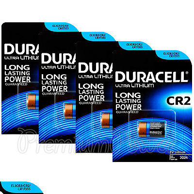 4 x Duracell Ultra Lithium CR2 batteries 3V CR17355 EL1CR2 EXP:2024 Pack of 1