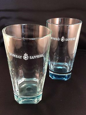 BOMBAY SAPPHIRE GIN GLASS's x 2 (TWO) - FREE UK POSTAGE