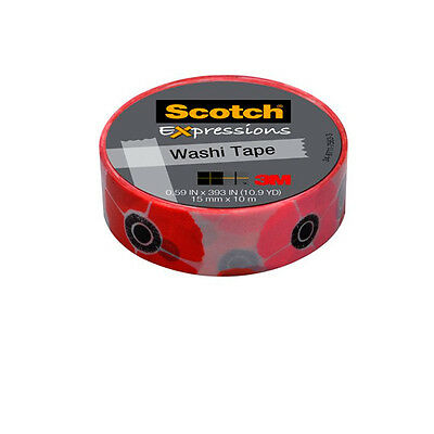 18 cintas Scotch Washi tape amapolas 15mmx10m UU003015391