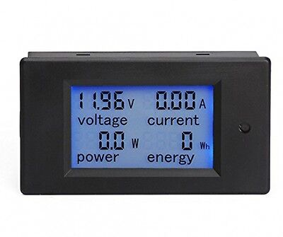 DROK® Digital Multimeter DC 6.5-100V 20A Voltage Amperage Power Energy Meter