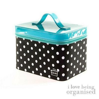 Polka Dot Makeup Cosmetics Nail Storage Case with Adjustable Dividers