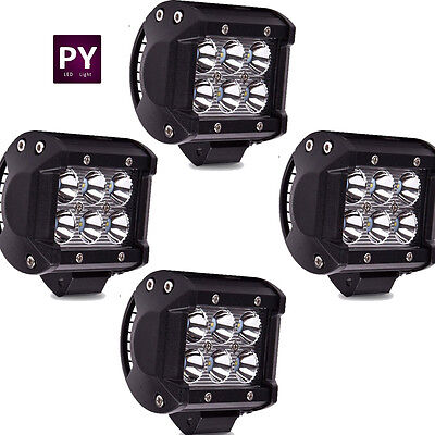 4X 4Inch Cube Pods Cree LED Work Light bar Spot Off road SUV Truck Jeep Boat 4WD