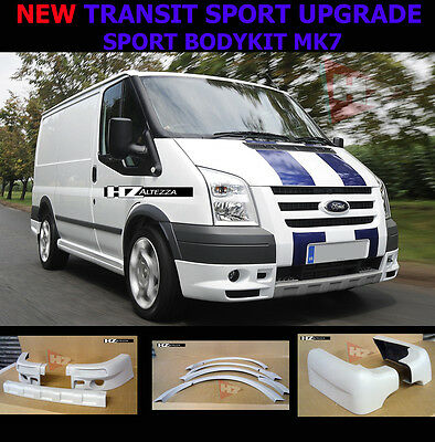 Sport Bodykit Upgrade Kit | Ford Transit 2006 To 2013 Mk7 Swb | Primed