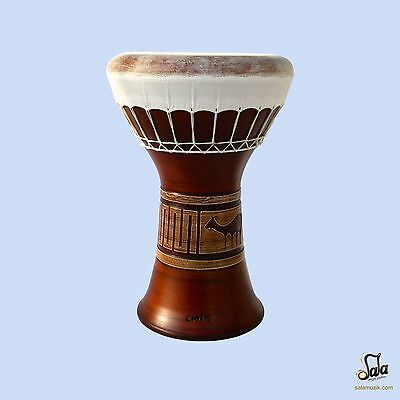 Professional Clay Ceramic Solo Darbuka Drum By Emin Percussion Doumbek EP-004-A