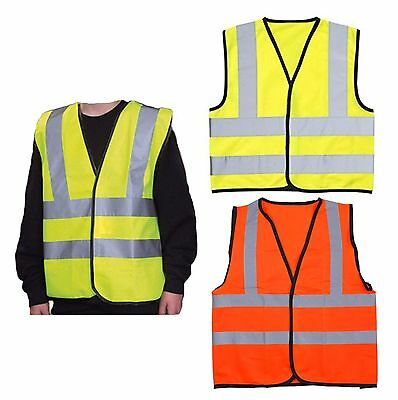 Childrens High Visibility Safety Waistcoat Vest Jacket Kids Hi Vis Yellow Orange