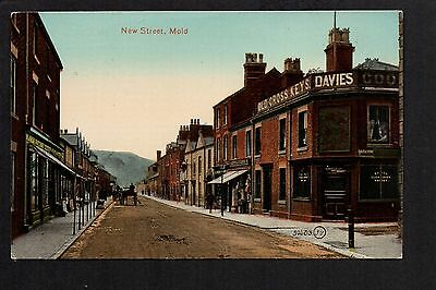 Mold - New Street - colour printed postcard