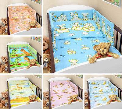 BUMPER FOR COT and COT BED NURSERY BABY BEDDING SET STRAIGHT CLEARANCE STOCK