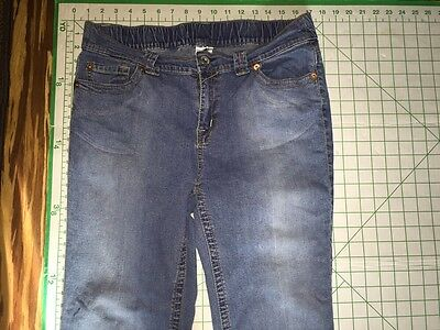MOTHERHOOD Maternity Jean Denim CROPPED Pant STRETCH CAPRI Size M MEDIUM