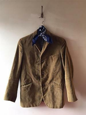 True Vintage 1930s/40s/50s Men's Corduroy Blazer Sports Jacket Coat 36 38 S