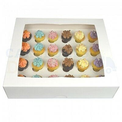 24 Mini Premium Cupcake Box + Divider Cheapest On Ebay Choose Your Colour & Qty