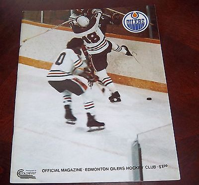 Edmonton Oilers WHA game program October 24 1978 cover Action