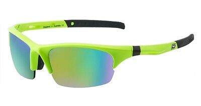 Dirty Dog Ecco Golf Running Sport Sunglasses Fluro Green with Green Mirror Lens