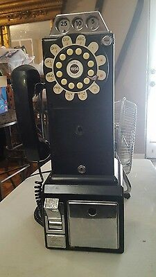 Vintage Antique 1950's Payphone Replica Pushtone Home Wall Phone