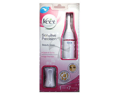 Veet Sensitive Precision Beauty Styler High Precision Trimmer Shaver 1unit+7acce