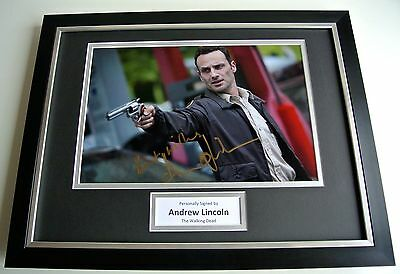 Andrew Lincoln SIGNED FRAMED Photo Autograph 16x12 display The walking Dead COA