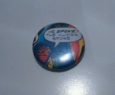 PLANET OF THE APES 25mm Badge 90s 80s Sci Fi monkey human comic cult pin