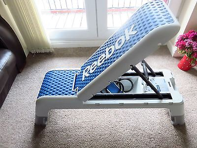 Reebok Deck Workout Bench Stepper With Resistance Band