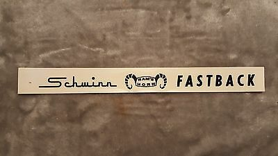Old School Bmx Schwinn Approved Rams Horn Fastback Chainguard Decal Vtg Rare