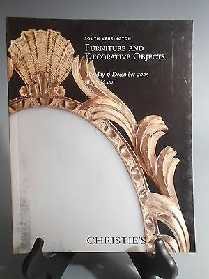 Christie's South Kensington Furniture & Decorative Objects 6 December 2005