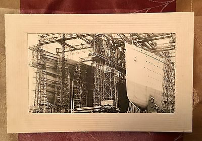 Photo Postcard Titanic Olympic Building Stamp Postmark March 14 White Star Line