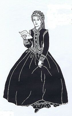 "Day Dress Pattern for antique French Fashion Doll size 12-16 17-18 21-22""  #105"