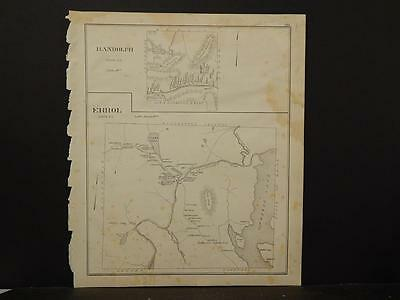 New Hampshire,Coos County Map, Randolph Errol Reversible Single Page 1892 L4#34
