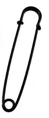 """10 LARGE 3"""" SAFETY PINS,SKIRT PINS  all steel nickle BLACK COLOR sharp tips USA"""