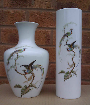 Kaiser - Selection Of Bird Patterned Vases- Sudsee Pattern.