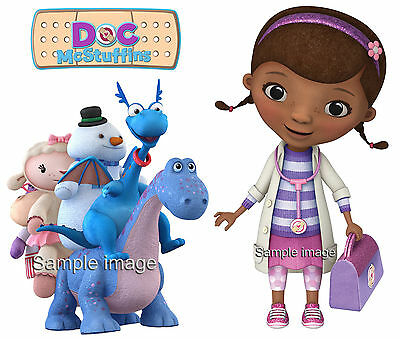 DOC MCSTUFFINS wall stickers (choice of 10 PRE-CUT images & 2 sizes) + DISCOUNTS