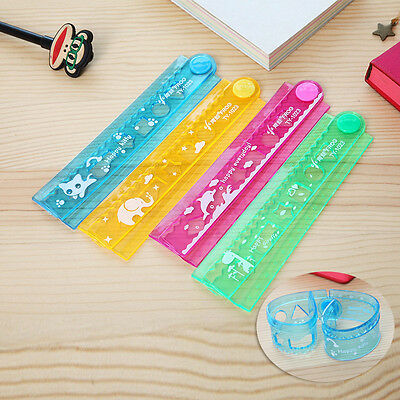 animal Flexible rule Folding Foldable Ruler office stationery gift school tool