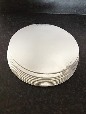 10x 6 Inch Round Cut Edge Cake Boards Cards 1.5mm