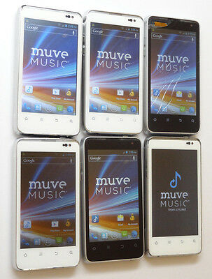 Lot of 6 ZTE Engage MT & Engage LT N8000 Cricket Smartphones All Power On AS-IS