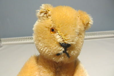 Vintage Schuco 6 Inch Golden Mohair Bear With Glass Eyes Free Uk P&p