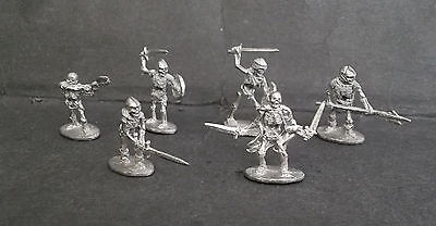 ral partha dungeons & dragons lot 0f 6x skeleton undead  miniature Very Rare