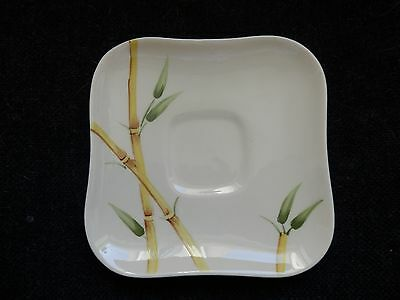 """Vintage Weil Ware  7"""" Saucer Plate (Bamboo Cream) Hand Decorated"""