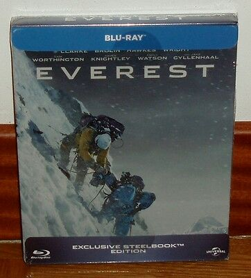 Everest-Edicion Exclusiva Steelbook-Blu-Ray-Nuevo-New-Historia Real-(Sin Abrir)*