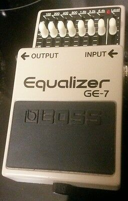 BOSS EQUALIZER GE-7 effects pedal VGC guitar fx eq