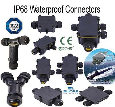 2 3 4 5 6 T Y H Way IP68 Waterproof Electrical Cable Connector Junction Box