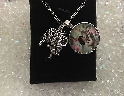 00191  ROMANCE ANGELS Cupid Infused Necklace™ Reiki Spiritual Love Peace