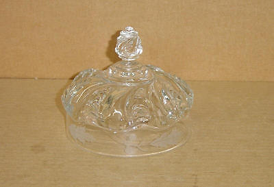 Eapg Crystal Etched Scalloped Swirl Butter Dish Lid Ripley & Co 1892