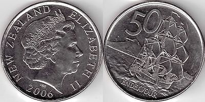 2006 New Zealand 50 cent coin