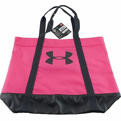 Under Armour Womens Pink Tote Shopping Gym Bag Favorite Logo