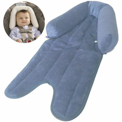 Baby Blue Soft Plush Pad Padding Head/Neck Support for car seat/carrier stroller
