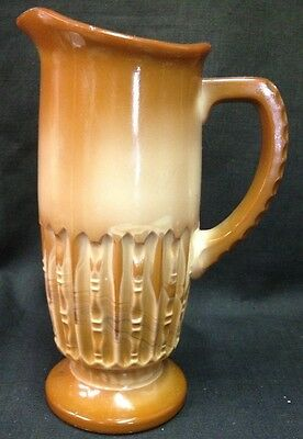Nelly Tankard Creamer Chocolate Glass McKee Bros 1901 Greentown National EAPG