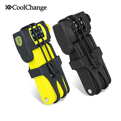CoolChange Bike Lock Bicycle 4 Digit Combination Cycling Security Folding Lock
