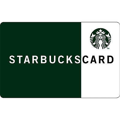 $15 Starbucks gift card FREE SHIPPING, mail delivery