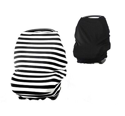Reversible 3 in 1 Baby Car Seat Cover Canopy