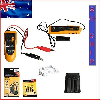 AU Ship NF-816 Underground Cable Wire Locator Tracker Lan With Earphone Tester