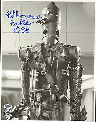 "BILL HARGREAVES Signed Autograph STAR WARS ""IG-88"" 11x14 Photo PSA/DNA #AC94614"